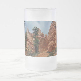 Peekaboo Loop to Bryce Point  Bryce Canyon Nationa Frosted Glass Beer Mug