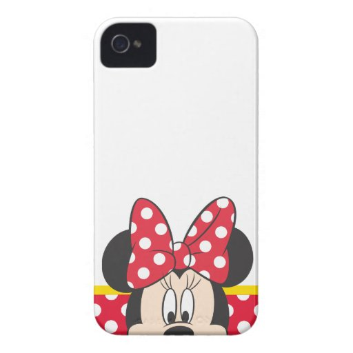 Peekaboo Minnie Mouse - lunares iPhone 4 Funda