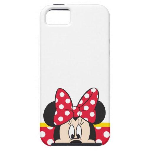 Peekaboo Minnie Mouse - lunares iPhone 5 Carcasas