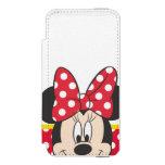 Peekaboo Minnie Mouse - lunares Funda Cartera Para iPhone 5 Watson