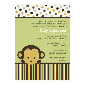Peekaboo Monkey Invitation