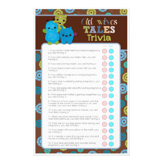 PeekaBoo Monsters Baby Shower Game Old Wives' Tale Flyer