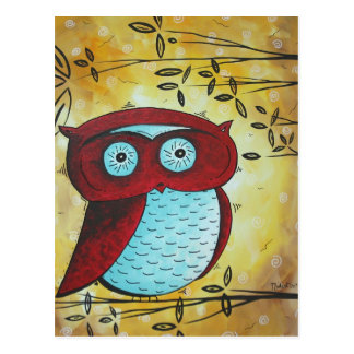 Peekaboo Owl Postcard