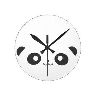 Peekaboo Panda Round Clock