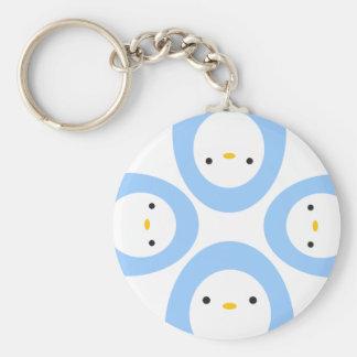 Peekaboo Penguins Basic Round Button Keychain