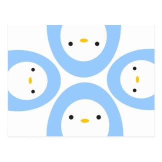 Peekaboo Penguins Postcard