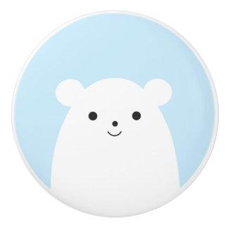 Peekaboo Polar Bear Ceramic Drawer Knob