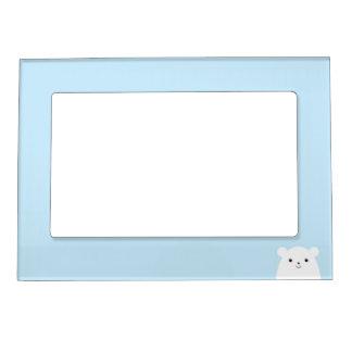Peekaboo Polar Bear Photo Frame Magnet