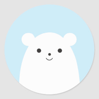 Peekaboo Polar Bear Sticker