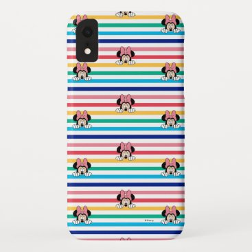 Peekaboo Rainbow Minnie Mouse Pattern iPhone XR Case