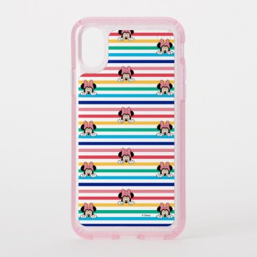 Peekaboo Rainbow Minnie Mouse Pattern Speck iPhone XS Case