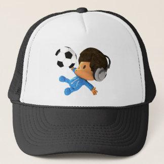 peekaboo soccer afro trucker hat