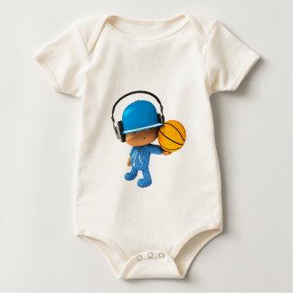 Peekaboo superstar basketball edition baby bodysuit