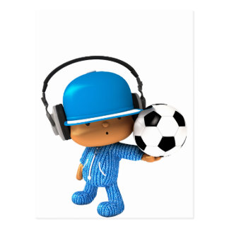 Peekaboo Superstar soccer edition Postcard