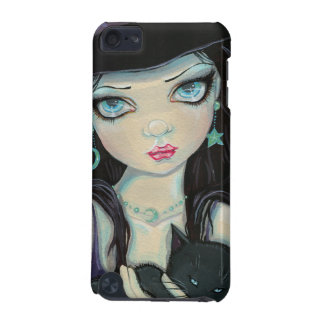 Peekaboo Witch and Cat Halloween Fantasy Art iPod Touch (5th Generation) Cover