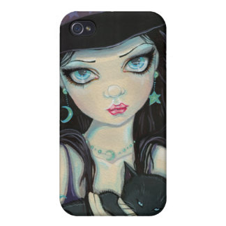 Peekaboo Witch and Cat iPhone Case iPhone 4 Covers