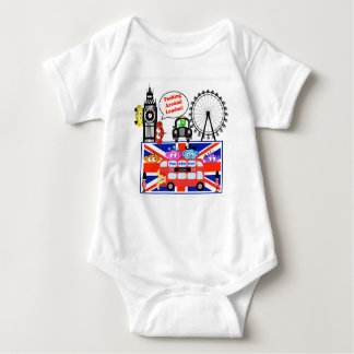 Peeking Around London Baby Bodysuit