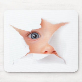 Peeking Baby See You Mouse Pad