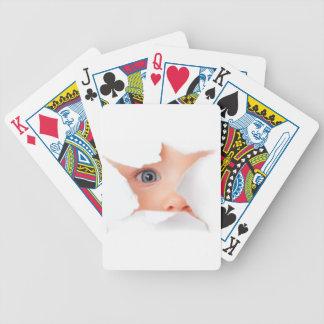 Peeking Baby See You Playing Cards