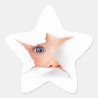 Peeking Baby See You Star Sticker