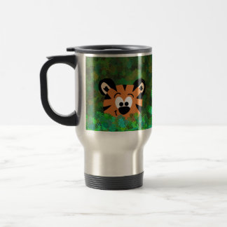 Peeking Baby Tiger Rahul Left Handed Travel Mug