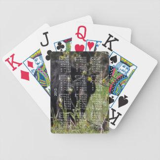 Peeking Bear; 2013 Calendar Bicycle Playing Cards