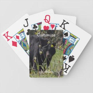 Peeking Bear; Customizable Bicycle Playing Cards