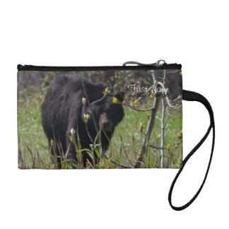 Peeking Bear; Customizable Coin Purse