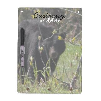 Peeking Bear; Customizable Dry-Erase Whiteboard