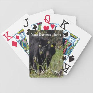 Peeking Bear; Promotional Bicycle Playing Cards