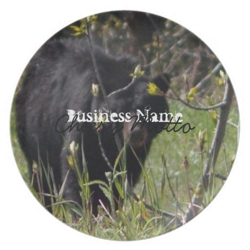 Peeking Bear; Promotional Party Plates