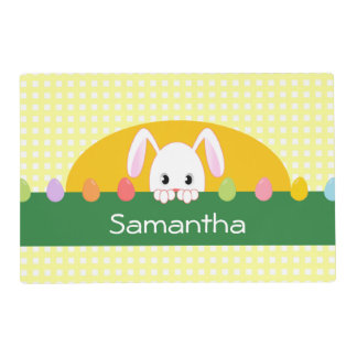 Peeking Bunny Easter Personalized Placemat