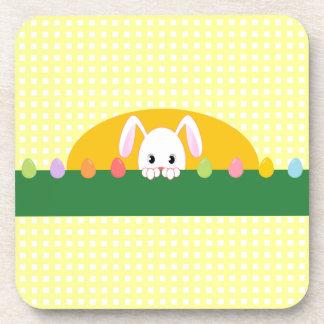 Peeking Bunny Rabbit Easter Coasters