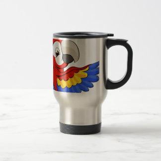Peeking Cartoon Parrot Travel Mug