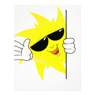 peeking cartoon sun letterhead
