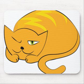 Peeking Cat Cartoon Mouse Pad