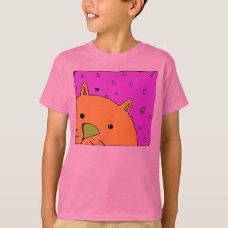 Peeking Cat Children's T Shirt