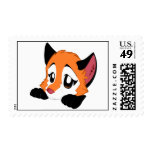 Peeking Cute Fox Stamp