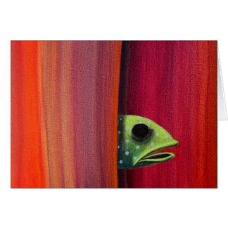 Peeking Fish Greeting Card