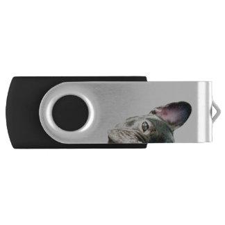 Peeking Frenchie Flash Drive