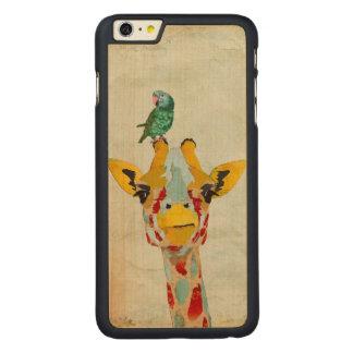 PEEKING GIRAFFE & PARROT Carved iPhone Case Carved® Maple iPhone 6 Plus Slim Case