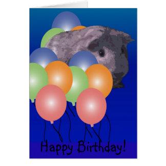 Peeking Guinea pig, Happy Birthday! Card
