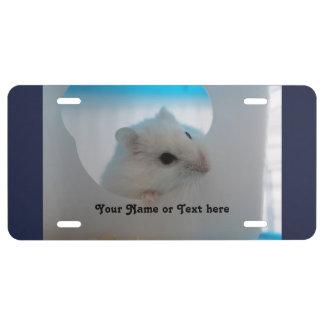 Peeking  Hamster License Plate