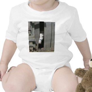 Peeking Horse Baby Bodysuit