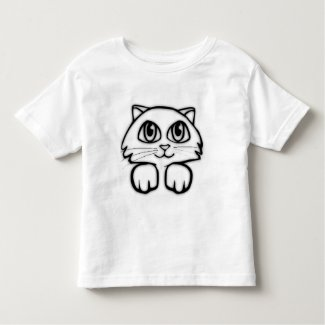 Peeking Kitten Kids Tee Shirt