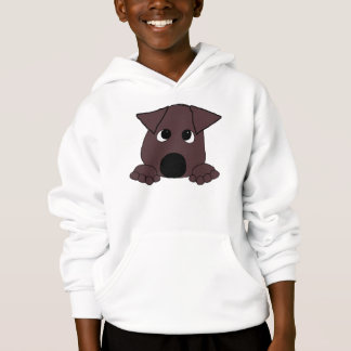 peeking lab chocolate hoodie