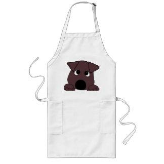 peeking lab chocolate long apron