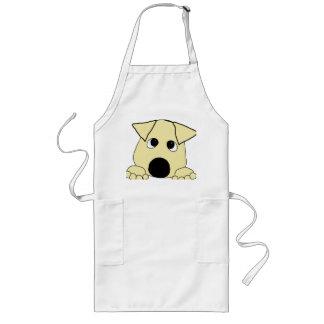 peeking lab yellow long apron