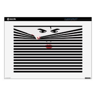 Peeking Man (White) Laptop Skin