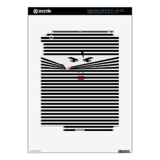 Peeking Man (White) Tablet Protection Skin Decal For iPad 3